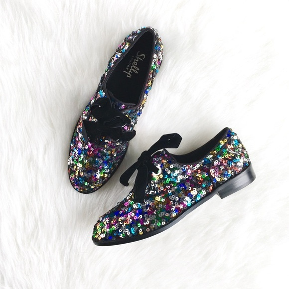 Shelly's London sequin sparkly oxfords
